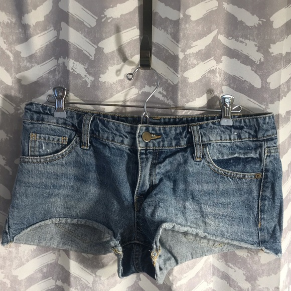 Mossimo Supply Co. Pants - Low Rise Denim Short Shorts